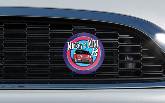Mickey & MINI 8 Grille Badge